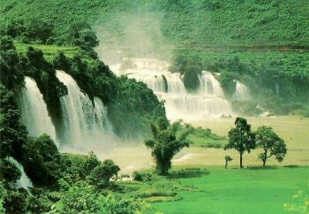 Ban Doc Falls in Cao Bang